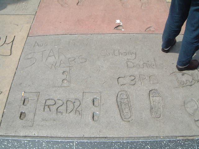 Footprints of R2D2 and C3PO